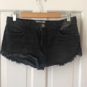 Cheeky black Current/Elliot denim shorts